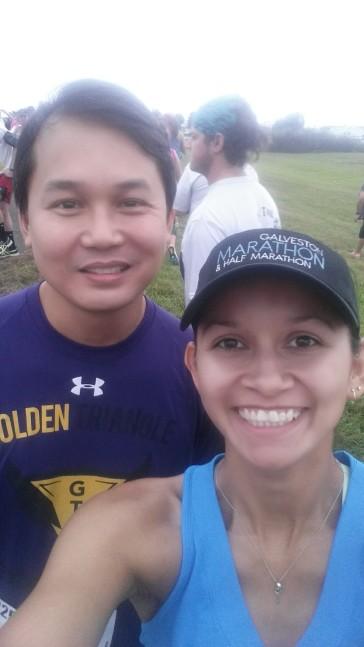 Gilbert & I pre-race