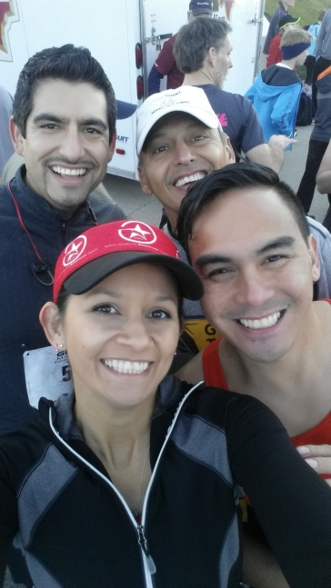 Javier, Tony, Willie & I pre-race