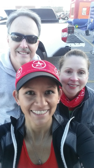 Wink, Sylvia & I pre-race